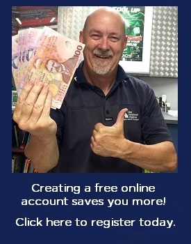 Create an online account and save more!