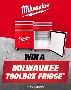 Milwaukee Toolbox Fridge Promo