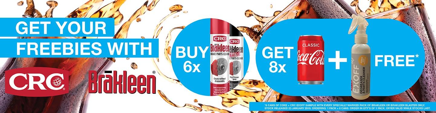 CRC Brakleen + Coke Promo