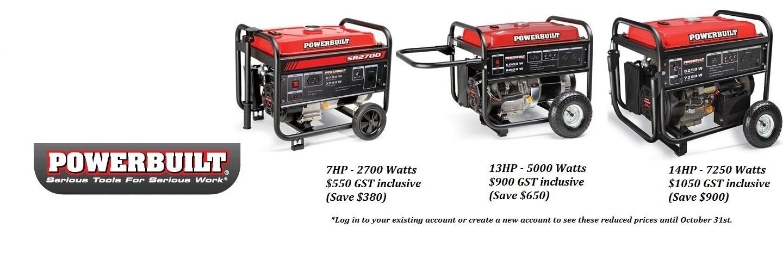 Powerbuilt Generators